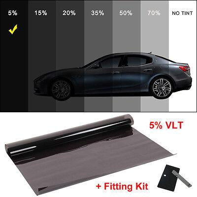 Window Film Tint Dark Smoke 5% 6m x 76cm 2ply Professional Anti-Scratch Car