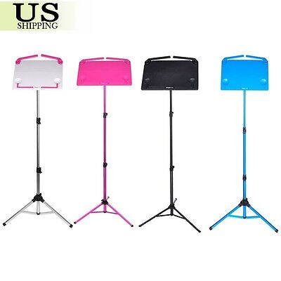 Music Conductor Stand Adjustable Metal Sheet Tripod Holder Folding Stage w/ Bag