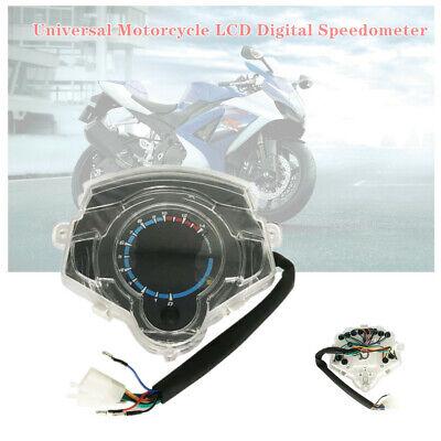 14000RPM Universal Motorcycle Bike Digital Odometer Speedometer Tachometer Gauge