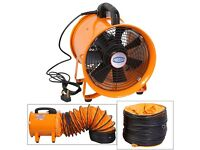 New 12 inch Powerstar Industrial portable extractor fan with 5m PVC Duct Hose