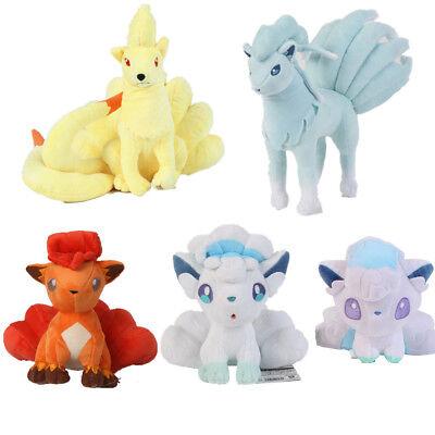 """5""""-10"""" Pokemon Center Alola Alolan Vulpix Ninetales Plush Doll Soft Toy Gift"""