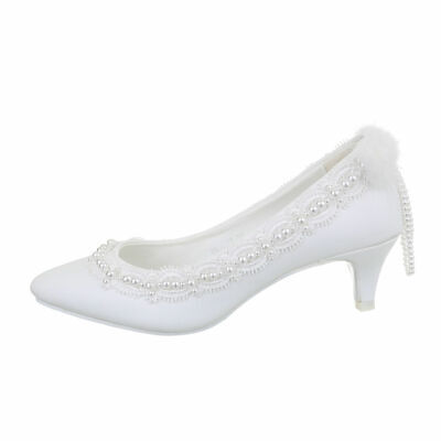 Zapatos de Novia Bombas Mujer Diseñador Nuevo Talla 36 Blanco 1221