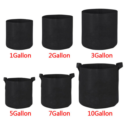 10 20 Pack Fabric Grow Pots Aeration Plant Planter Bags Root Garden Container