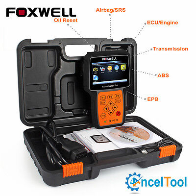 Engine ABS Airbag Transmission EPB OBD2 Diagnostic Code Scanner Foxwell NT614