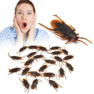 10 Halloween Pranks (10Pcs/Pack Fake Cockroach Creepy Halloween Prank Trick Roach Bugs)