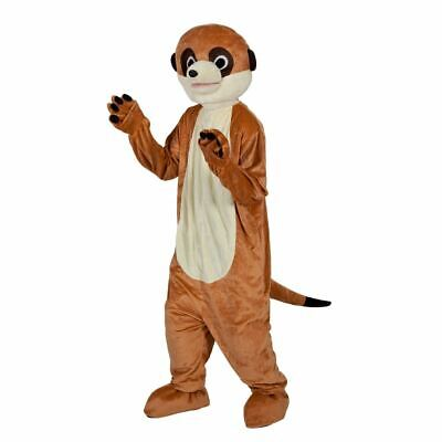 Sports Mascot Costumes (Adult Deluxe MEERKAT Charity Sporting Mascot Fancy Dress Costume Outfit)