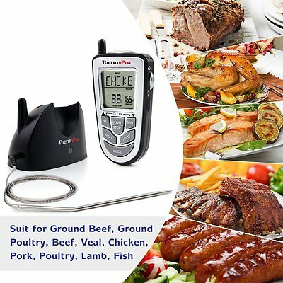 ThermoPro Wireless Digital Food Cooking Meat BBQ Grill Oven Smoker Thermometer