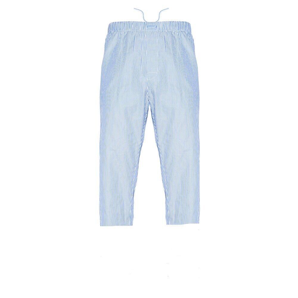 Ritzy Men's 3-Quarter Pajama Pants 100% Cotton Plaid Woven Poplin – B&W Stripes Clothing, Shoes & Accessories