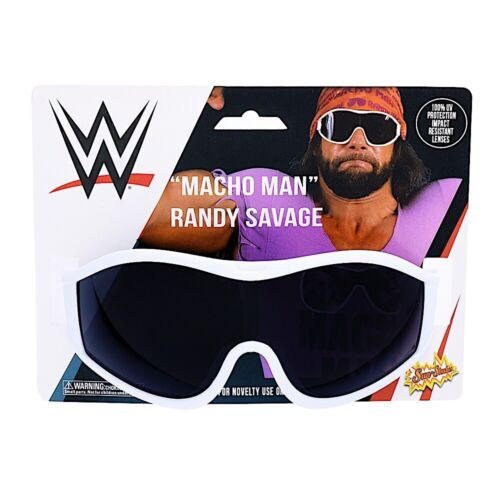 WWE Macho Man Randy Savage White Sunglasses Costume Party Shades Sun-Staches