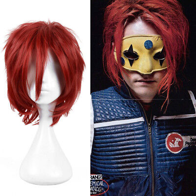 Red Chucky Wig (Child's play Chucky cosplay Hot Wig Halloween Red Short hair full wigs + a cap)