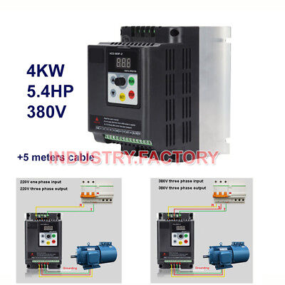 4kw Variable Frequency Vfd Driver Inverter 370-440v For Cnc Router Spindle Motor