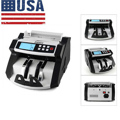 Bill Counter Money Counting Cash Machine Uv Mg Counterfeit Fake Detector Us H5d1