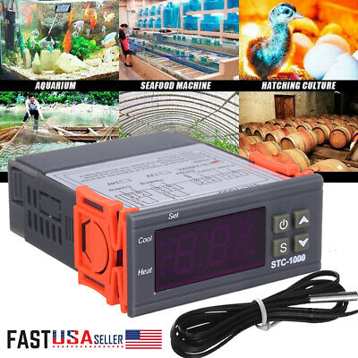 Universal Stc-1000 Digital Temperature Controller Thermostat W Sensor Ac 110v