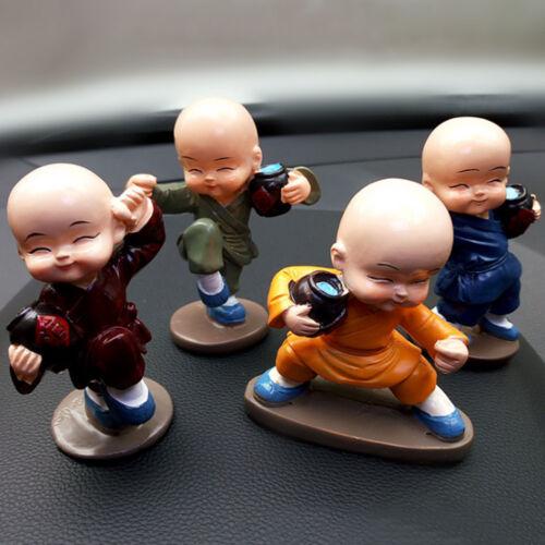 Mini  Four Drunken Fist Little Monks Protection Resin Car Decoration Ornament
