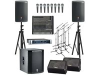 PA Speakers and DJ equipment hire ( Bedfordshire, Hertfordshire, Bucks and Nationwide)
