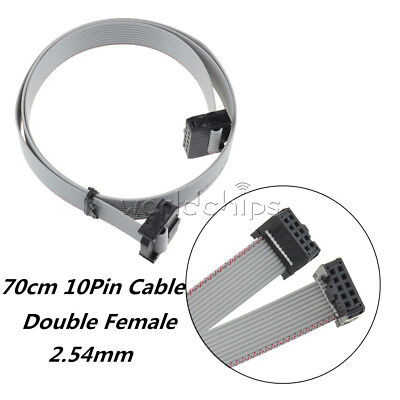5pcs 70cm 10pin Female Cable Usbisp Usbasp Jtag Avr Download Wire Ribbon 2.54mm