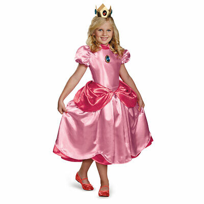 Girls Princess Peach Deluxe Halloween Costume - Peach Halloween