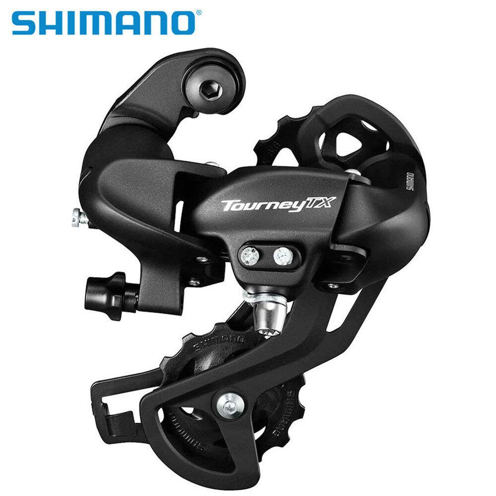 Shimano Tourney TX800 7//8-Speed Long Cage Rear Bicycle Derailleur Black