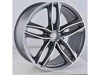 "LATEST 19"" AUDI RS6 ALLOY WHEELS X4 BOXED NEW 5X112 A4 A5 A6 A7 A8 TT VW SCIROCCO"