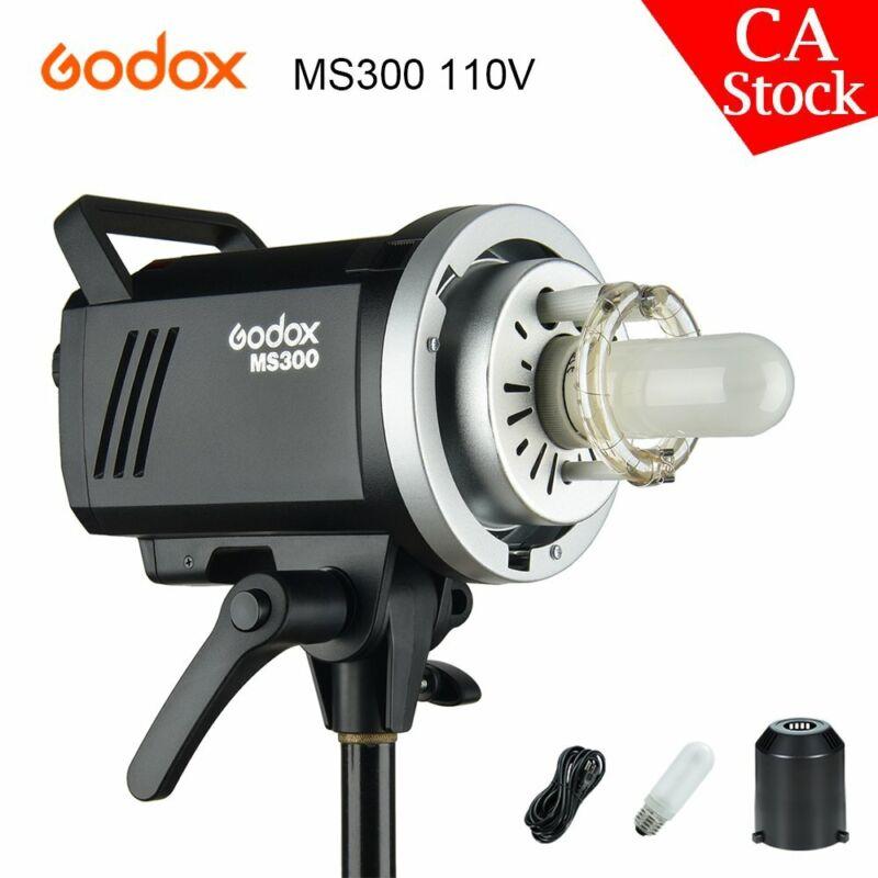 US Godox 2.4G MS300 300WS Studio Strobe Head Flash Light Lamp Monolight 110V
