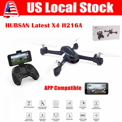 Hubsan H216A X4 Pro FPV RC Quadcopter 1080P APP Controlled Drone W/ GPS RTH RTF