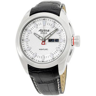 Alpina Silver Dial Black Leather Strap Men's Watch AL242S4RC6