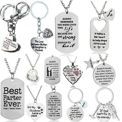 Christmas Gift For Mom Dad Best Friends Pendant Chain Necklace Xmas Gift