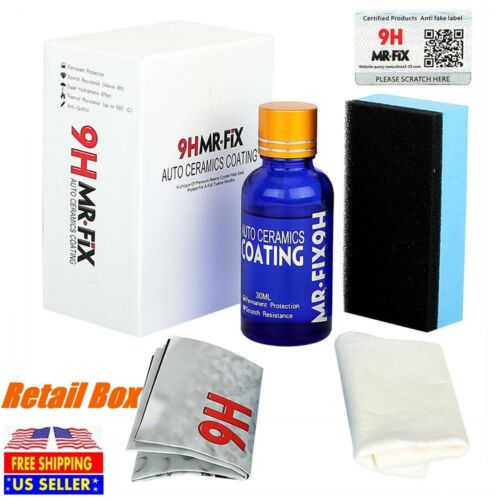 Car Ceramic Mr.FIX 9H Polish Nano Glass Coat Anti-Scratch Auto H9 Hardness Automotive Care & Detailing