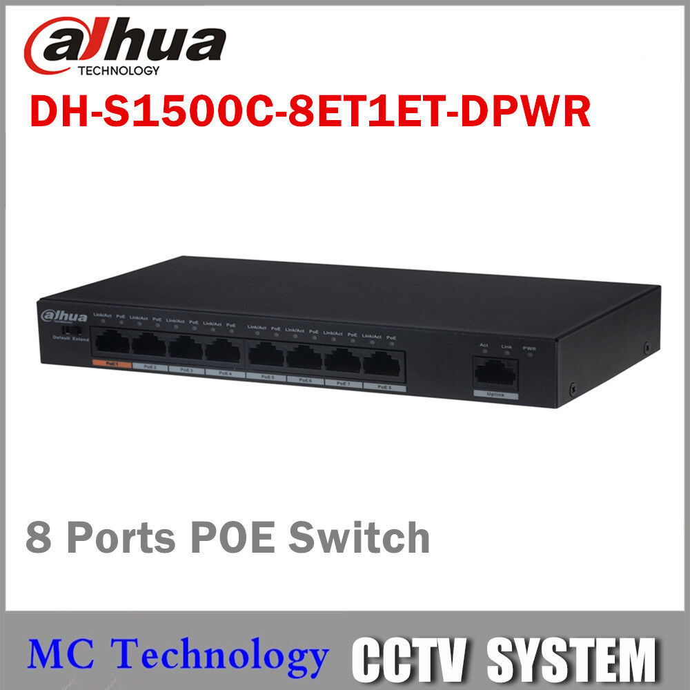 Dahua POE Switch 8 Ports Switch with 8 POE Ports 10/100Mbps for IP Camera or NVR