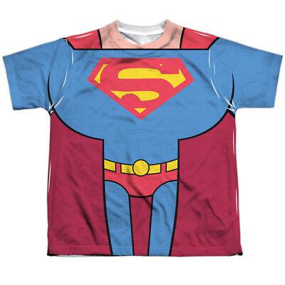 Superman Teen Costume (TEEN TITANS GO SUPERMAN COSTUME Kids Front Print Tee Shirt SM-XL BOYS SZ)