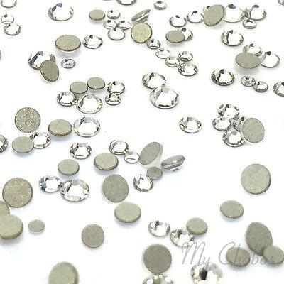 (CRYSTAL 001 clear 144 mixed small tiny size ss3-ss10 Swarovski Flatback nail art)