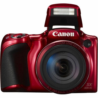 Canon PowerShot SX420 IS Digital Camera Red With 42x Optical Zoom