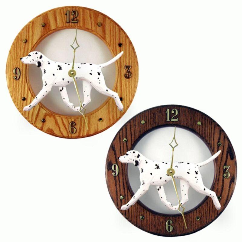 Dalmatian Wood Clock Black