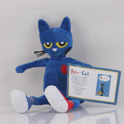 Pete the Cat Plush Doll Merrymakers Soft Animal Stuffed Kid Toys Gift- 14 In](Pete The Cat Doll)