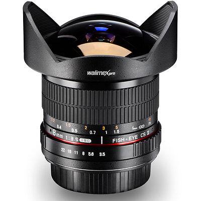 Walimex pro 8mm / 3,5 Cs2 Ojo de Pez para Nikon D5300 D5200 D5100 D5000 D3200 segunda mano  Embacar hacia Spain