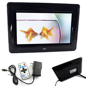 New 7 inch LCD Digital Photo Frame With MP3 Player BLK