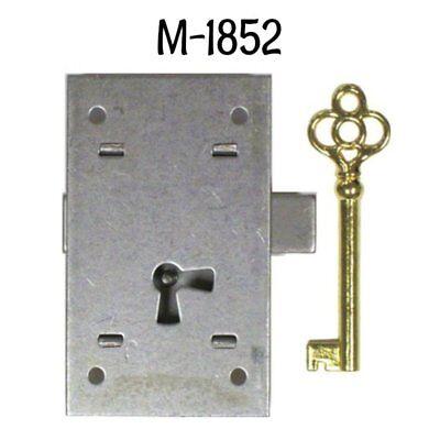 "Cabinet Lock - Flush Mount Cupboard Lock with Key - Large 3"" Steel Lock"