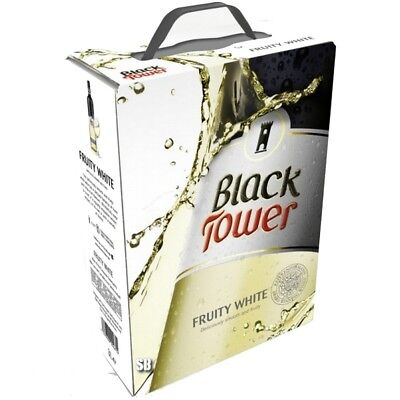Black Tower Fruity White Spritzig Fruchtig Weißwein 9,5%vol Bag in Box BiB 3L