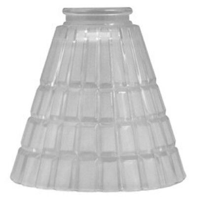 """Lowes (0321879) 5 1/2"""" Frosted Vanity Light Glass , Clear- Lot of 4"""