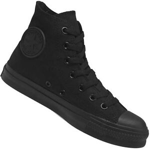 BNIB-Converse-Chuck-Taylor-All-Star-Hi-Black-Monochrome-M3310-Size-UK-9