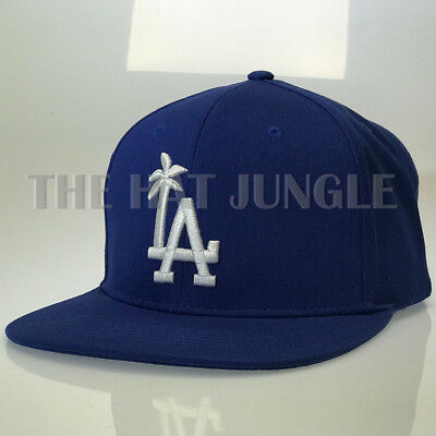 LA Palm Tree Snapback Hat Los Angeles Solid Design Flat Bill Baseball Cap OSFM