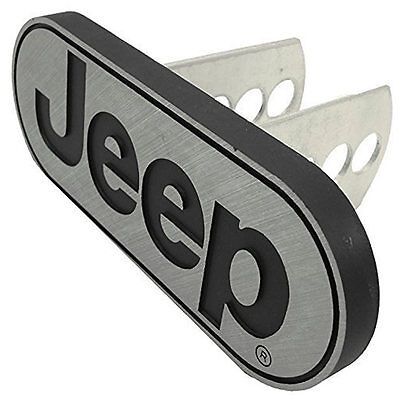 Jeep Brushed Metal Trailer Towing Hitch Receiver Plug Cover