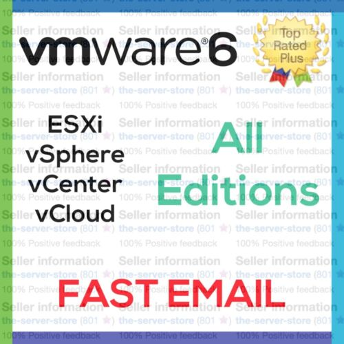 VMware 6 6.5 6.7 six ESXi License Key vSphere vCenter Enterprise Plus EMAILED ⚡️