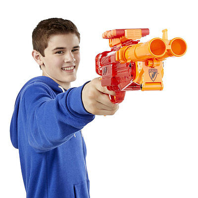 Nerf N Strike Sonic Fire Barrel Break IX-2, Kids Indoor Outdoor Blaster Toy Gun