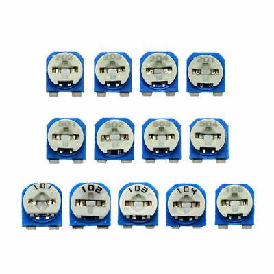 130pcs 13 Value Phenolic Potentiometer Trimpot Variable Resistor Assortment Kit