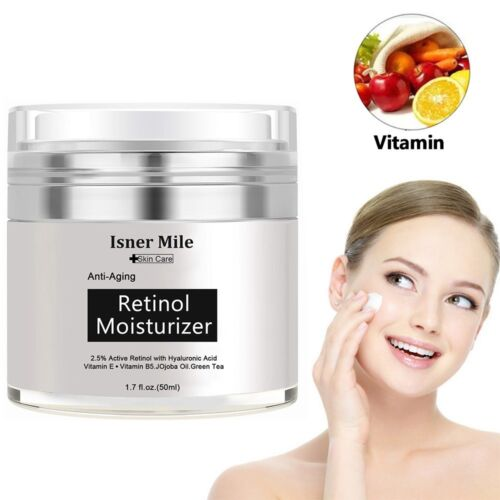 PURE RETINOL VITAMIN A 2.5% Anti Aging Wrinkle Acne Facial Face Serum / Cream US Anti-Aging Products