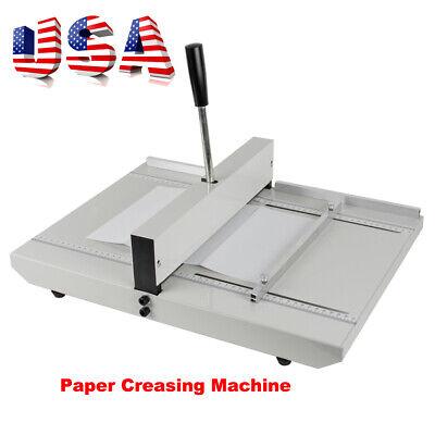 Usa Stock 1-10 Sheets 35cm Paper Scoring Creasing Machine Waccurate Ruler A4