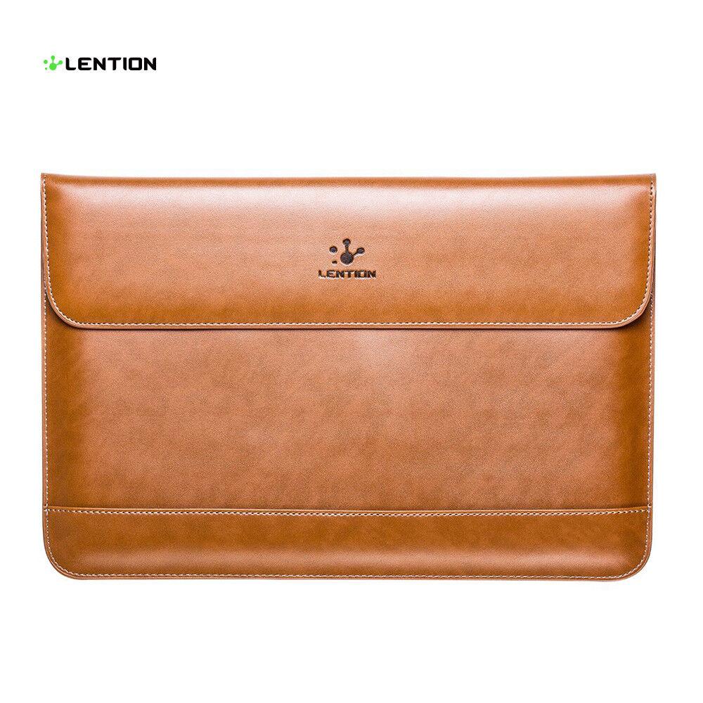 LENTION Ultra Slim Split Leather Laptop Case Bag Sleeve Pouc
