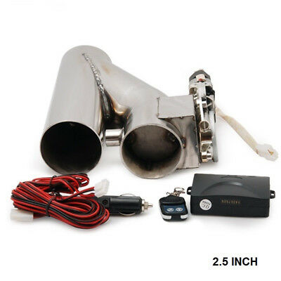 """EXHAUST CATBACK TURBO 2.5"""" ELECTRIC E CUTOUT Y PIPE WITH REMOTE"""