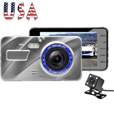 "4"" 1080P HD Vehicle Car Dashboard DVR Camera Video Recorder Dash Cam G-Sensor US"